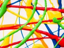 Cierre abstracto de la pintura para arriba Foto de archivo libre de regalías