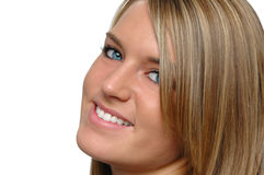 Cierre adolescente de la muchacha para arriba que sonríe Imagen de archivo