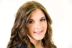 Cierre adolescente femenino del retrato para arriba Fotografía de archivo libre de regalías