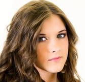 Cierre adolescente femenino del retrato para arriba Imagen de archivo