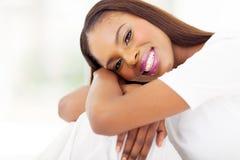 Cierre africano de la mujer para arriba Foto de archivo libre de regalías