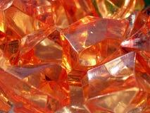 Cierre anaranjado de la pila de las piedras para arriba Imagen de archivo