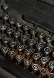 Cierre antiguo de la máquina de escribir para arriba Imagen de archivo