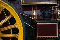 Cierre antiguo del motor de vapor encima de la visión Fotografía de archivo
