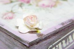 Cierre artificial de la rosa para arriba Foto de archivo