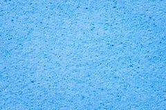 Cierre azul de la esponja para arriba fotografía de archivo libre de regalías