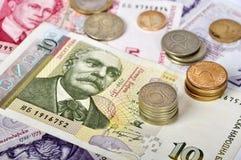 Cierre búlgaro del dinero para arriba Foto de archivo libre de regalías