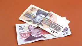 Cierre búlgaro del dinero para arriba DOF bajo Foto de archivo libre de regalías