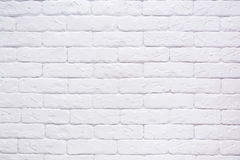 Cierre blanco del fondo de la pared de ladrillo Imagenes de archivo