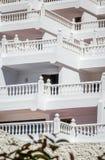 Cierre blanco del hotel para arriba Foto de archivo