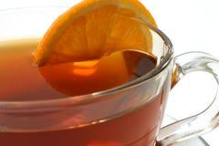 Cierre caliente de la rebanada del limón del té para arriba Fotos de archivo libres de regalías