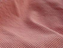 Cierre Checkered de la tela para arriba. Rojo. Fotografía de archivo