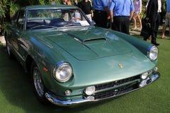 Cierre clásico de la opinión del cuarto del frente de Ferrari para arriba Fotografía de archivo libre de regalías
