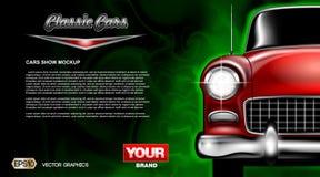Cierre clásico rojo del coche del vector de Digitaces viejo stock de ilustración