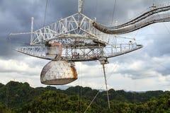 Cierre de Arecibo encima del receptor Fotos de archivo libres de regalías