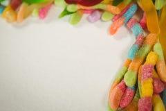 Cierre de arriba para arriba de los caramelos coloridos de la jalea Imagen de archivo
