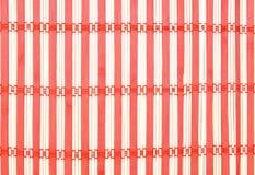 Cierre de bambú de la textura de la estera para arriba en fondo Fotos de archivo libres de regalías
