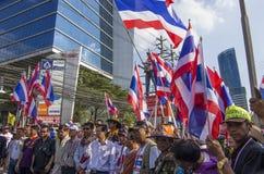 Cierre de Bangkok: 14 de enero de 2014 Foto de archivo libre de regalías