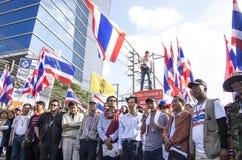 Cierre de Bangkok: 14 de enero de 2014 Fotos de archivo libres de regalías