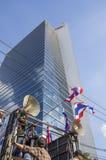 Cierre de Bangkok: 14 de enero de 2014 Imagen de archivo libre de regalías