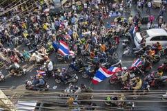 Cierre de Bangkok: 13 de enero de 2014 Fotos de archivo libres de regalías