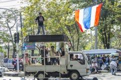 Cierre de Bangkok: 13 de enero de 2014 Imágenes de archivo libres de regalías