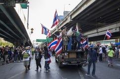 Cierre de Bangkok: 13 de enero de 2014 Imagen de archivo libre de regalías