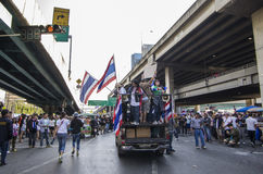 Cierre de Bangkok: 13 de enero de 2014 Fotografía de archivo libre de regalías