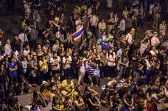 Cierre de Bangkok: 13 de enero de 2014 Foto de archivo libre de regalías