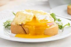 Eggs a Benedicto Foto de archivo libre de regalías