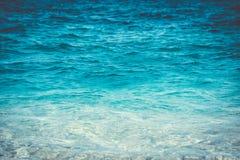 Cierre de la agua de mar para arriba Fotografía de archivo libre de regalías