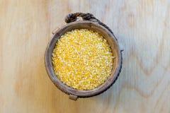 Cierre de la avena mondada del maíz para arriba Imágenes de archivo libres de regalías