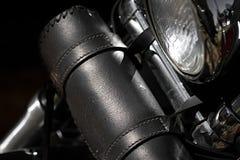 Cierre de la bolsa de herramientas de la motocicleta para arriba Fotos de archivo libres de regalías
