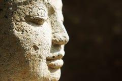 Cierre de la cara de Buddha Imágenes de archivo libres de regalías