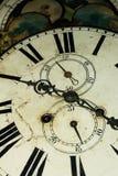Cierre de la cara de reloj del viejo estilo para arriba imagenes de archivo
