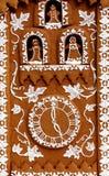 Cierre de la casa de pan de jengibre para arriba Imagen de archivo libre de regalías