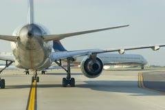 Cierre de la cola del aeroplano Imagen de archivo libre de regalías