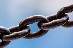 Cierre de la conexión de cadena para arriba Fotografía de archivo