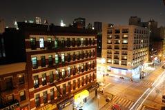 Cierre de la construcción de viviendas de New York City para arriba Fotografía de archivo libre de regalías