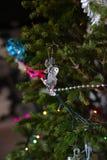 Cierre de la decoración del árbol de navidad para arriba Foto de archivo libre de regalías