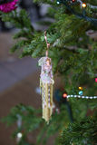 Cierre de la decoración del árbol de navidad para arriba Fotografía de archivo libre de regalías