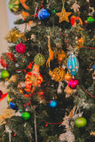 Cierre de la decoración del árbol de navidad para arriba Fotos de archivo libres de regalías