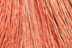 Cierre de la escoba del fondo para arriba Barra la escoba roja de la textura fotos de archivo libres de regalías