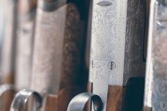 Cierre de la escopeta de la caza para arriba Rifle de la caza Foto de archivo libre de regalías