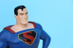 Cierre de la estatua del superhombre para arriba Imágenes de archivo libres de regalías