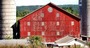 Cierre de la granja de la familia para arriba Foto de archivo