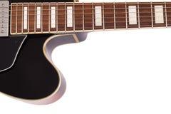 Cierre de la guitarra del jazz para arriba Fotografía de archivo