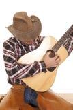 Cierre de la guitarra del juego del vaquero Imagen de archivo libre de regalías