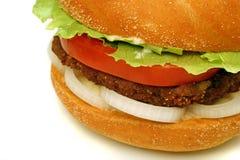 Cierre de la hamburguesa Fotos de archivo libres de regalías