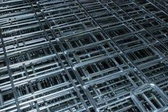 Cierre de la jaula del metal encima de la diagonal imagen de archivo libre de regalías